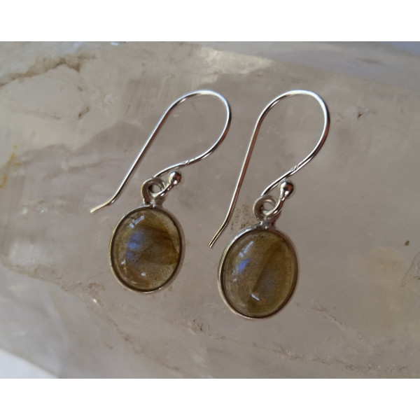 8x10 oval bezel set genuine gemstone earrings