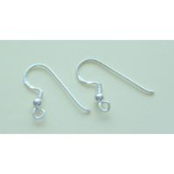 3mm bead on sterling silver earring hook