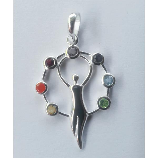 chakra goddess pendant