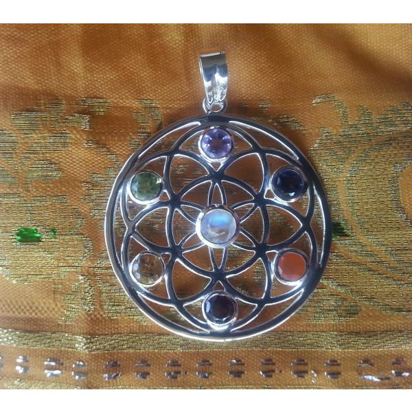 wheel of life /chakra pendant
