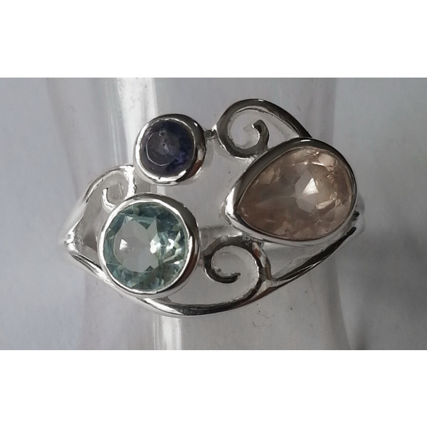 R538 Silver & Stone Ring