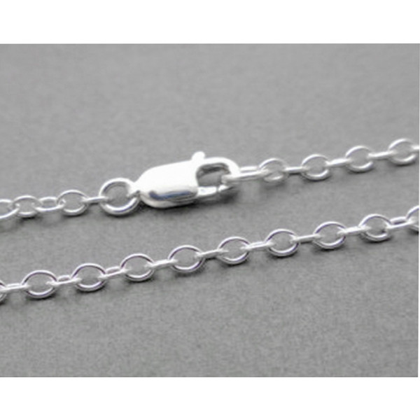 sccl35 Sterling silver fine cable chain.