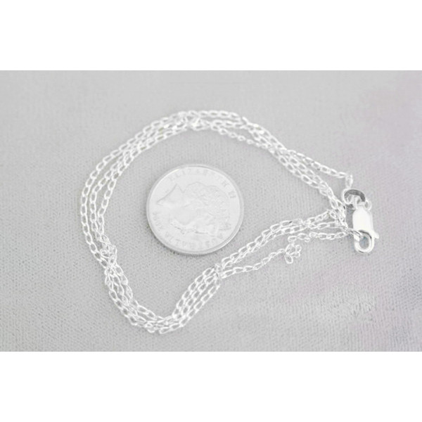 sclcd40 Fine long curb link sterling silver chain