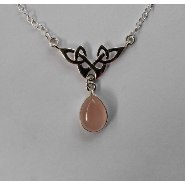 SN042 Celtic pattern with facet pear gemstone